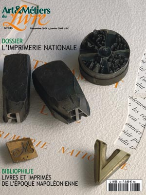 Dossier : L'Imprimerie Nationale